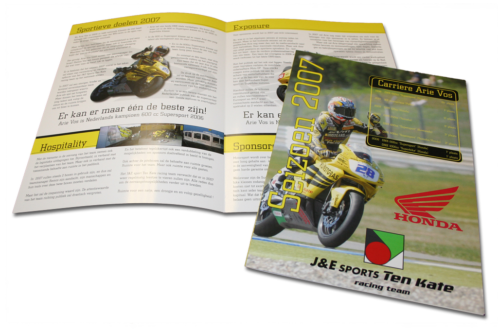 Arie Vos racing, brochure