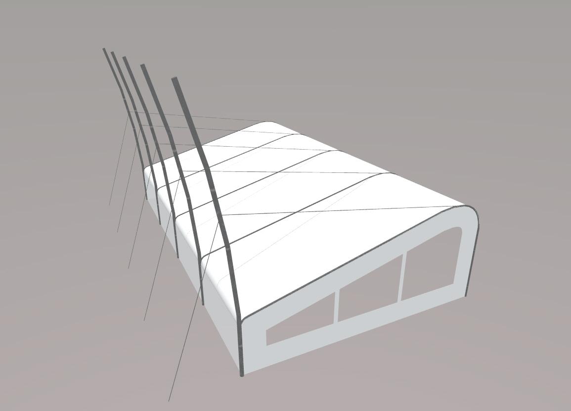 Tent bovenaanzicht